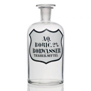 Una botella de Ácido bórico