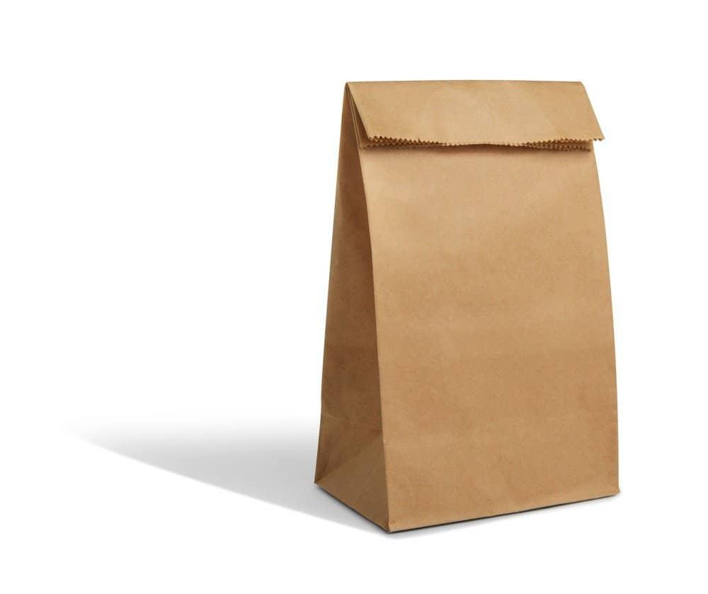 Una bolsa de papel marrón