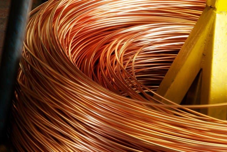 Fondo de círculos de cobre