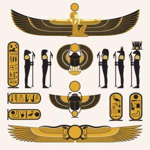 Símbolos y decoraciones egipcios antiguos