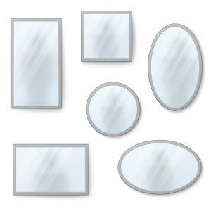 Espejos con reflejos borrosos.