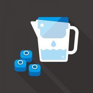 Jarra de filtro de agua con cartucho de filtro