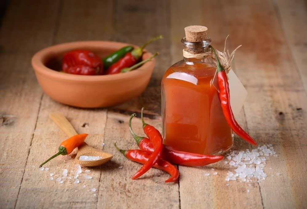 Mezcla de lima y chilis
