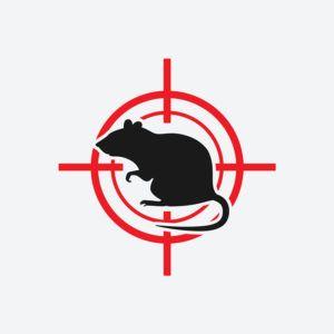 Un blanco rojo icono de Rata