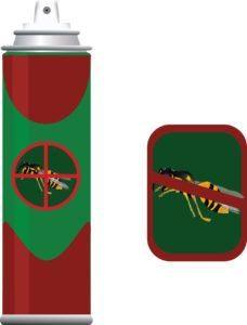 Spray insecticida para insectos.