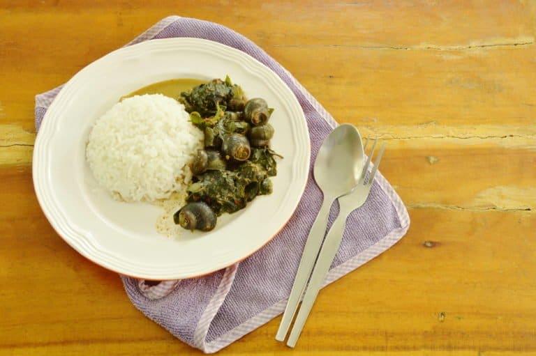 caracoles como comida