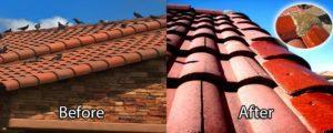 Deshacerse de los piegones en el techo antes y después