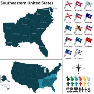Conjuntos del sureste de Estados Unidos